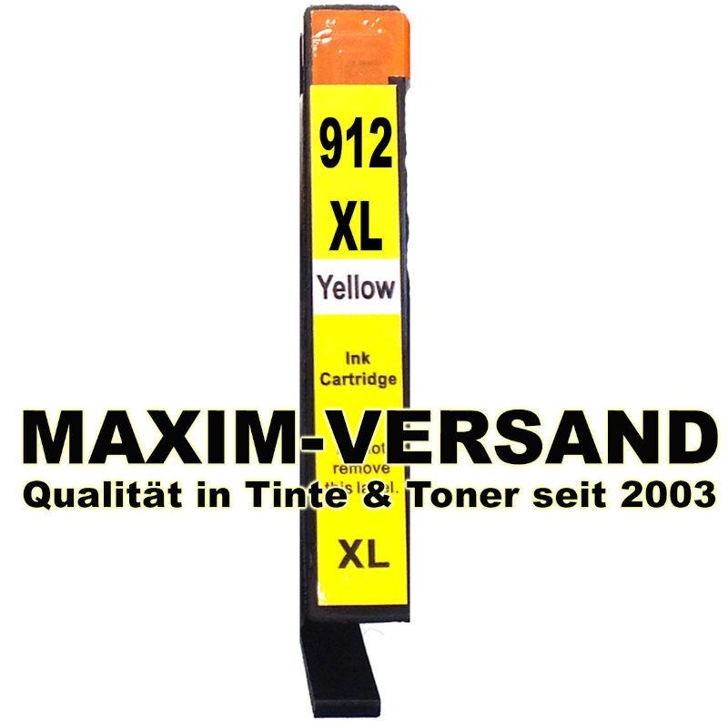 HP 912 XL - yellow / gelb - kompatibel - Druckerpatrone mit Chip