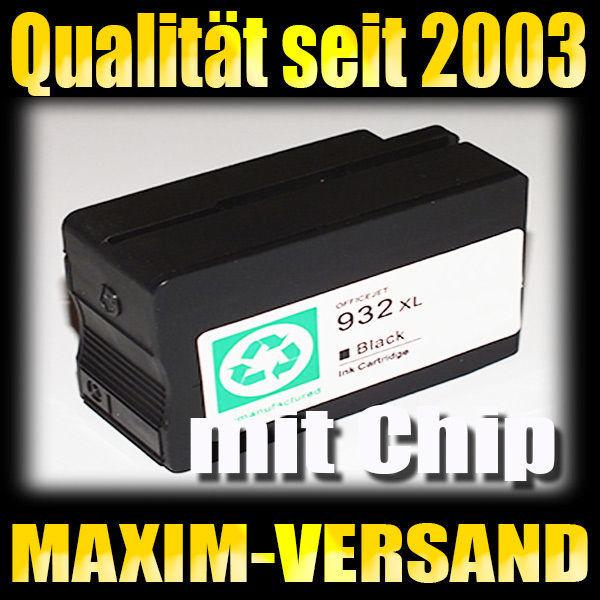 HP 932XL - kompatibel - schwarz / black