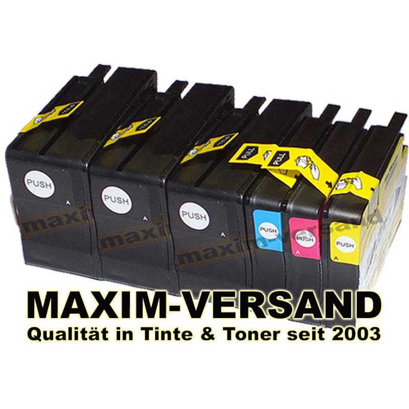 Patronen ersetzen HP 932 + 933 XL: BK, C, Y, M kompatibel (6er-Set)