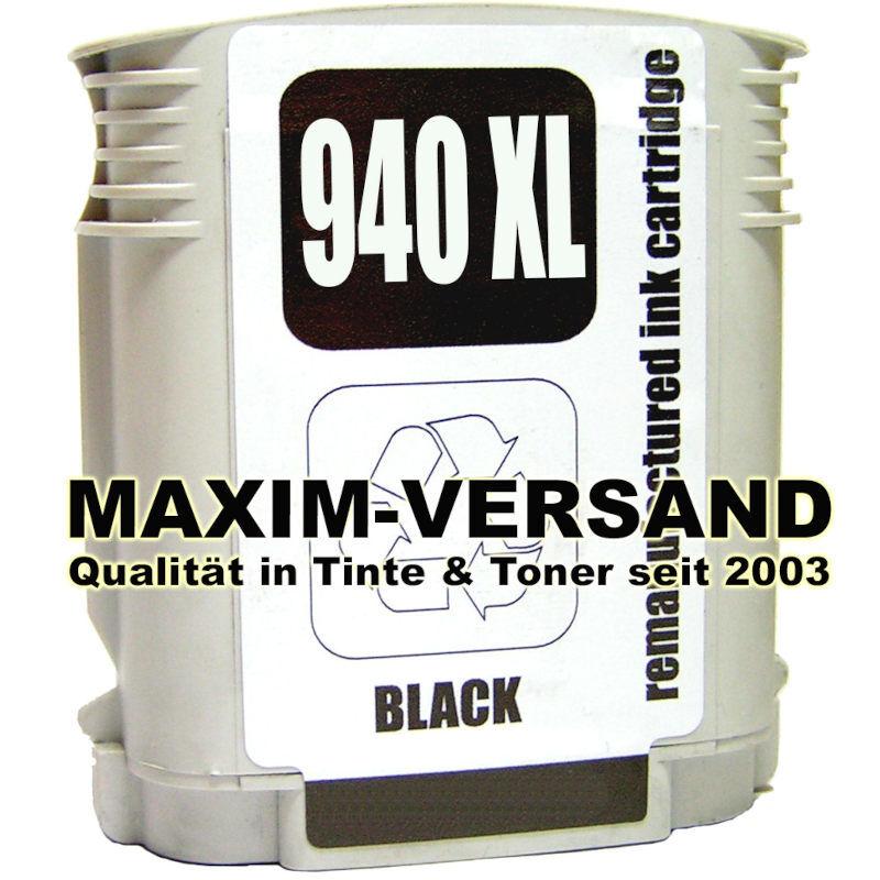 HP 940 XL - recycelt - schwarz / black (C4906AE) NEW-Chip (full)
