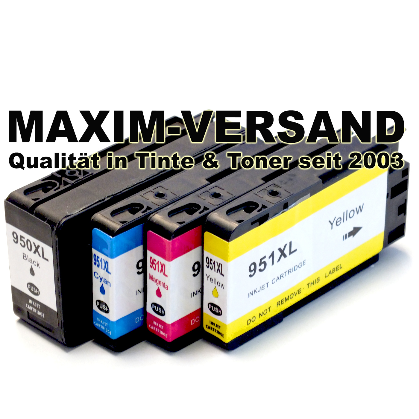 HP 950 XL Black + HP 951 XL Cyan, Yellow, Magenta - kompatibel - (4er Set)
