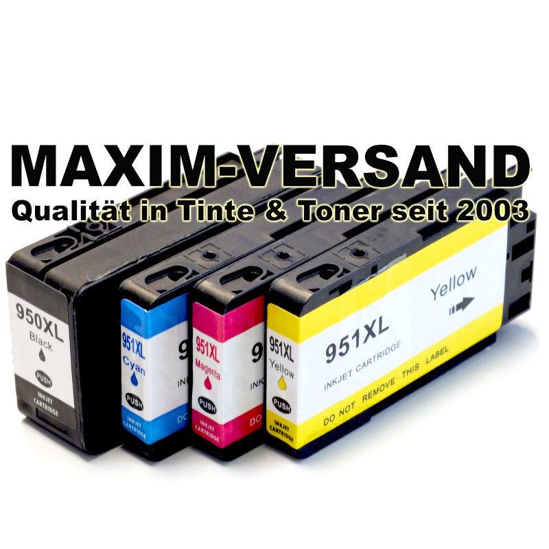 HP 950 XL Black + HP 951 XL Cyan, Yellow, Magenta - kompatibel - (4er Set)