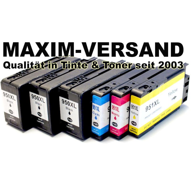 Patronen für HP 950 XL Black + HP 951 XL C, Y, M - kompatibel - (6er-Set)