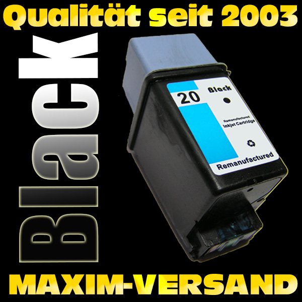 HP 20 - recycelt - C6614DE - 44 ml - schwarz / black