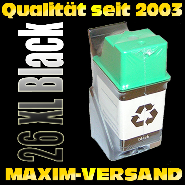 HP 26 - Tintenpatrone recycelt - 51626AE - schwarz / black