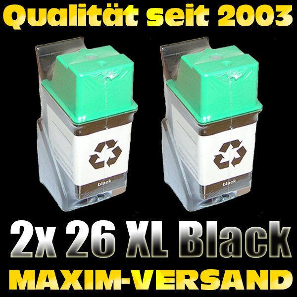 Druckerpatronen Set ersetzt Multipack HP 26 x 2 - kompatibel