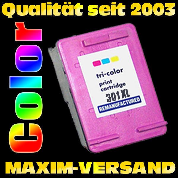 HP 301 XL - recycelt - neue Version - CH564EE - tri-color