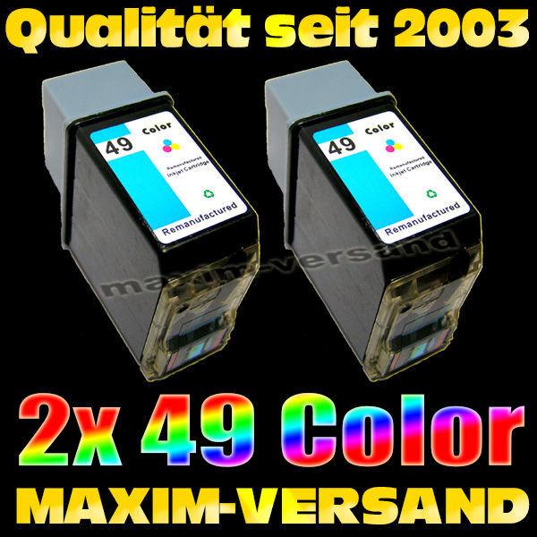 Druckerpatronen Set ersetzt Multipack HP 49 x 2 - kompatibel