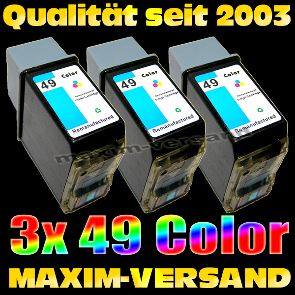 Druckerpatronen Set ersetzt Multipack HP 49 x 3 - kompatibel