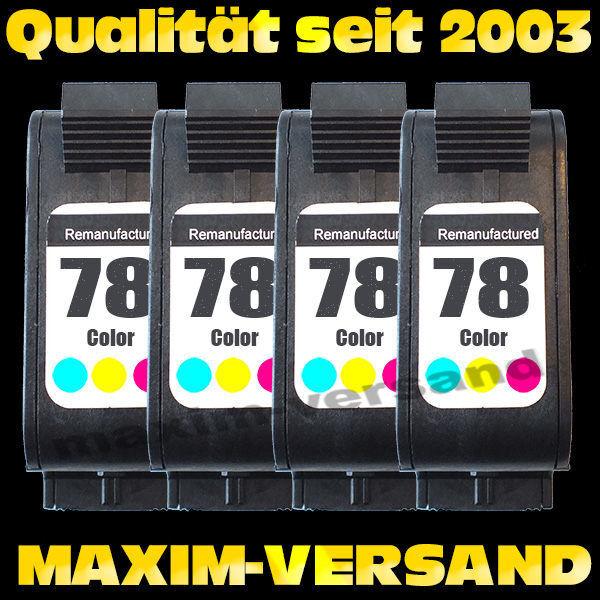 Druckerpatronen Set ersetzt Multipack HP 78 x 4 - kompatibel