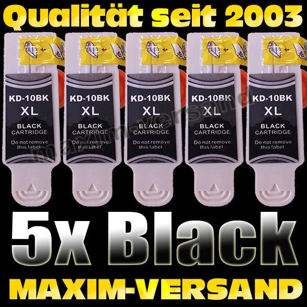 Set ersetzt Multipack Kodak 10BK - kompatibel - schwarz / black x 5