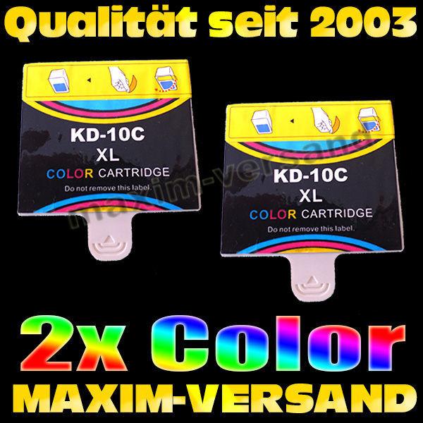Set ersetzt Multipack Kodak 10C - kompatibel - farbig / color x 2