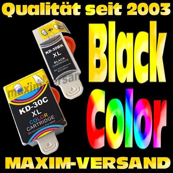 Multipack ersetzt Kodak 30 Black + 30 Color - kompatibel - (2er Set)