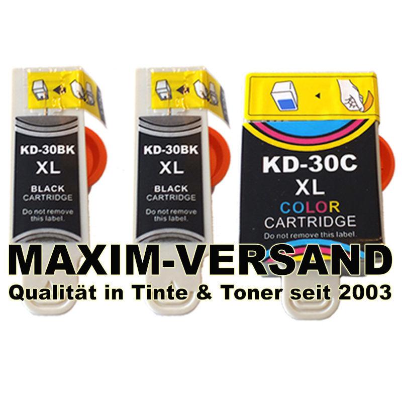 Multipack für Kodak 30 Black x2 + 30 Color - kompatibel - (3er Set)