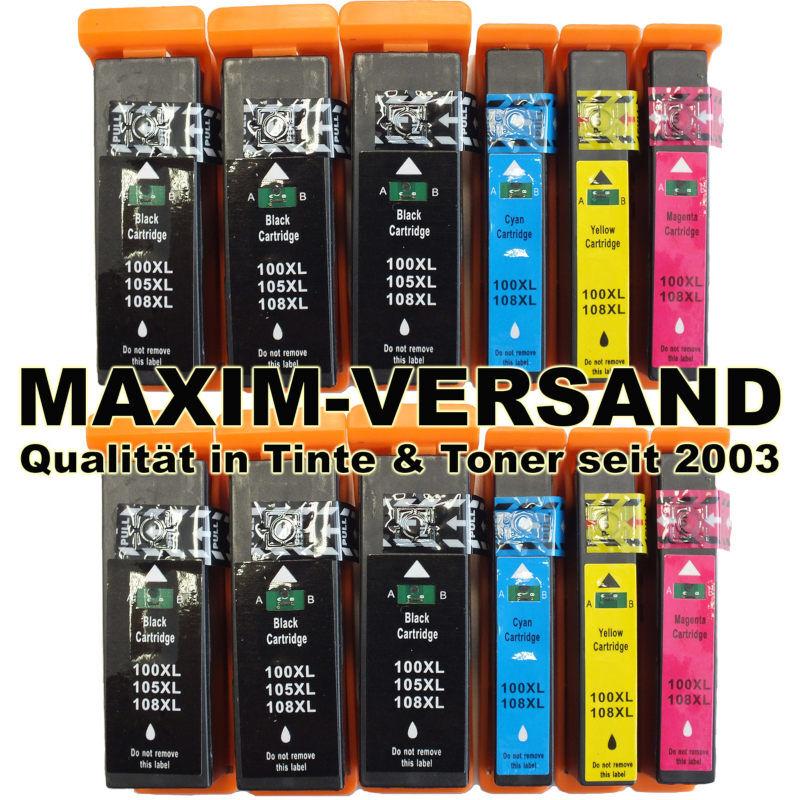 Lexmark 100XL BK, C, Y, M kompatibel (12er Set)