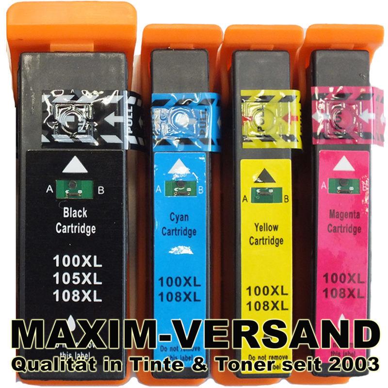 Multipack ersetzt Lexmark 100XL BK, C, Y, M kompatibel (4er Set)