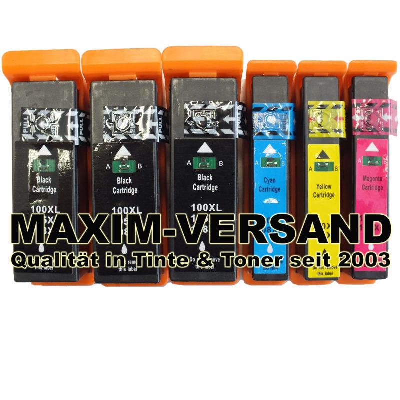 Lexmark 100XL BK, C, Y, M kompatibel (6er Set)