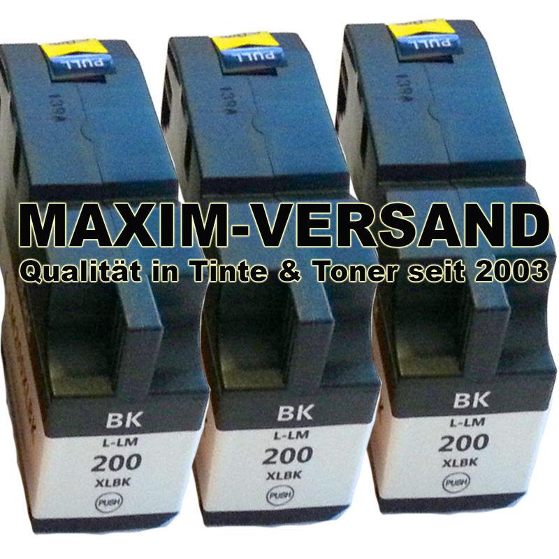 Lexmark 200 XL / 210 XL - schwarz / black - kompatibel - x 3