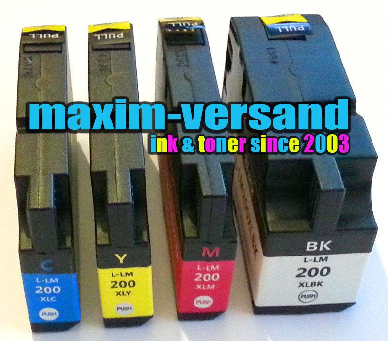 Lexmark 200XL / 210XL BK, C, Y, M kompatibel (4er)