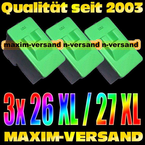 Lexmark 26/27 kompatibel x 3