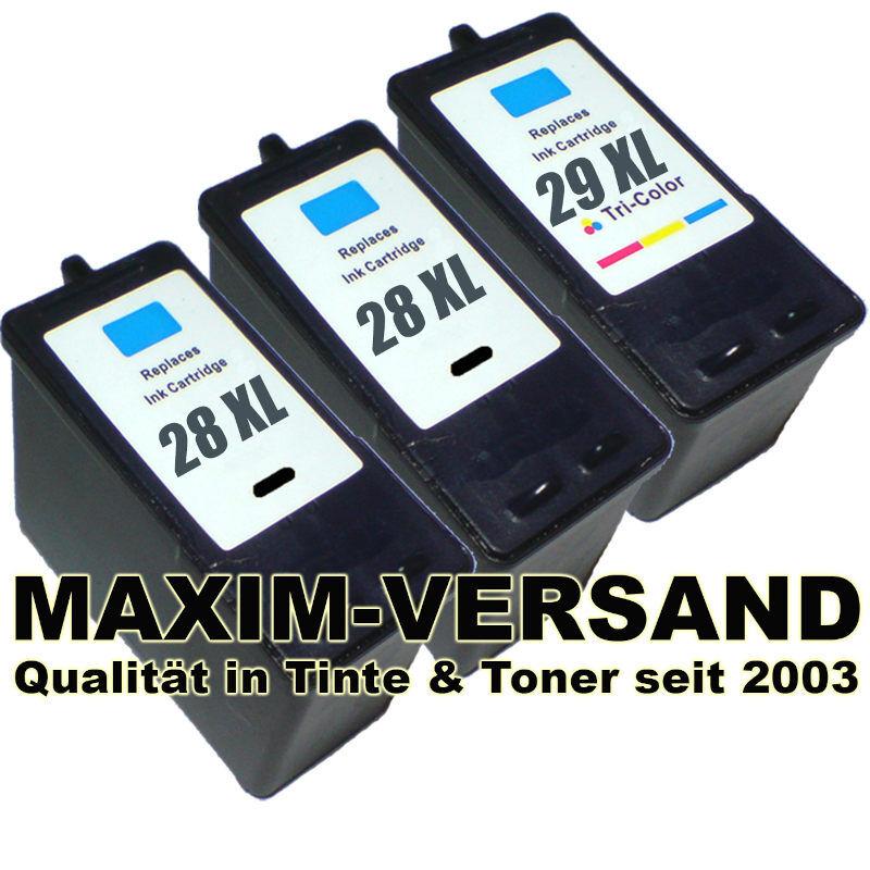 Lexmark 28 x 2 +  Lexmark 29 kompatibel