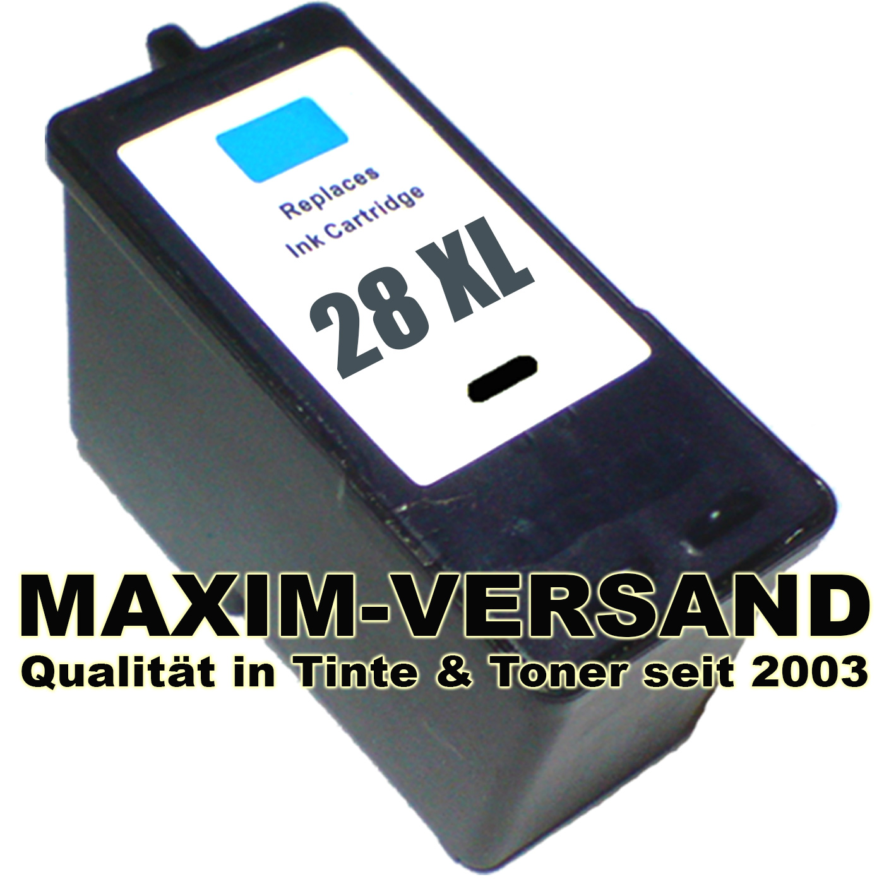 Lexmark 28A - recycelt - schwarz / black