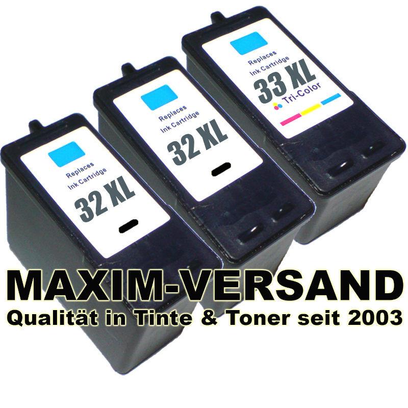 Lexmark 32 x 2 +  Lexmark 33 kompatibel