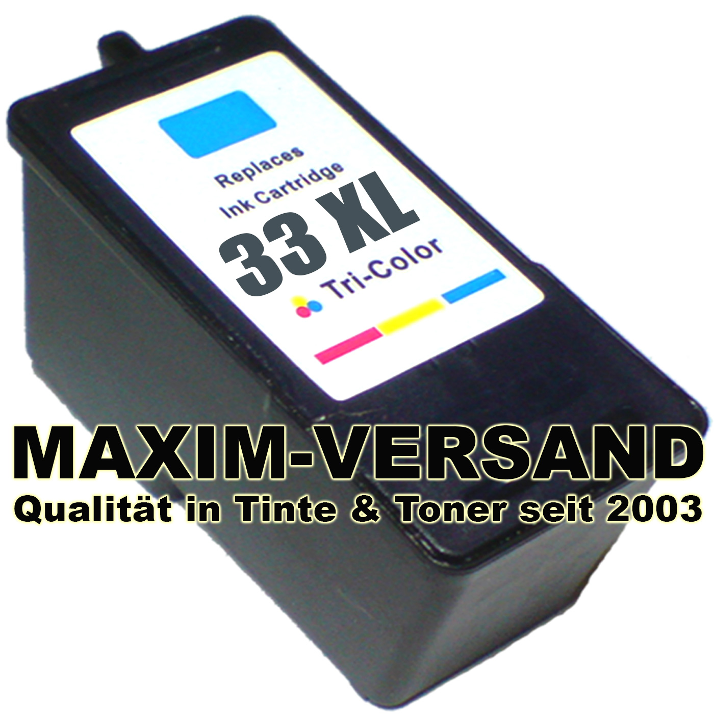 Lexmark 33 - recycelt - 3-farbig / color - 25 ml