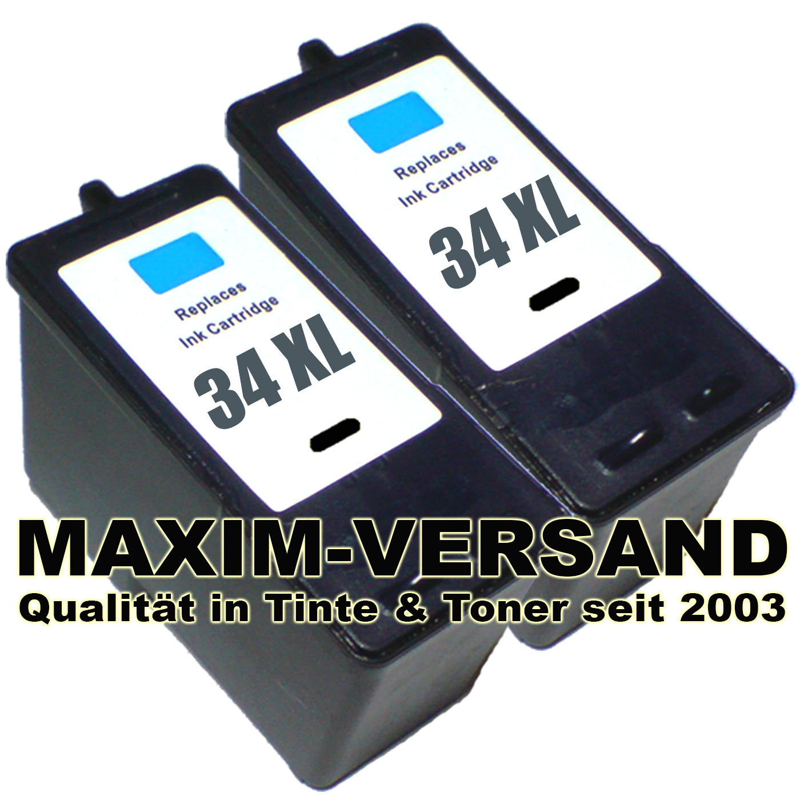 Lexmark 34 - black - kompatibel x 2