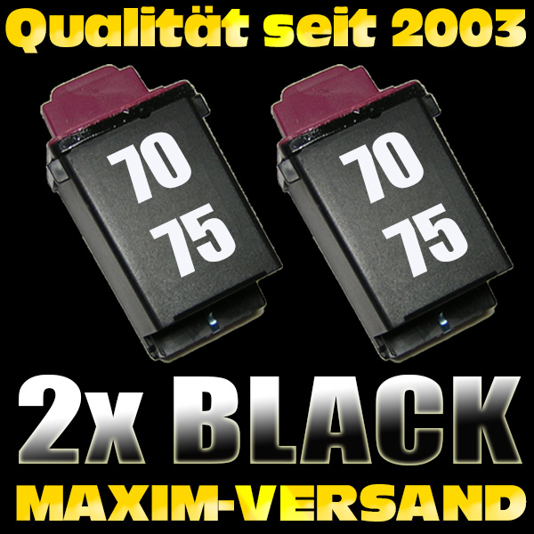 Lexmark 70/75 - kompatibel - schwarz / black - x 2