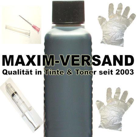 Tinte & Zubehör: Universal Nachfülltinte - 100 ml Set: Schwarz