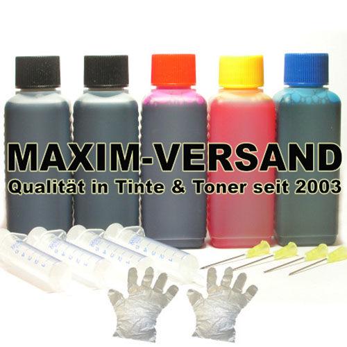 Tinte & Zubehör: Universal Nachfülltinte - 500 ml Set: Schwarz, Gelb, Rot, Blau
