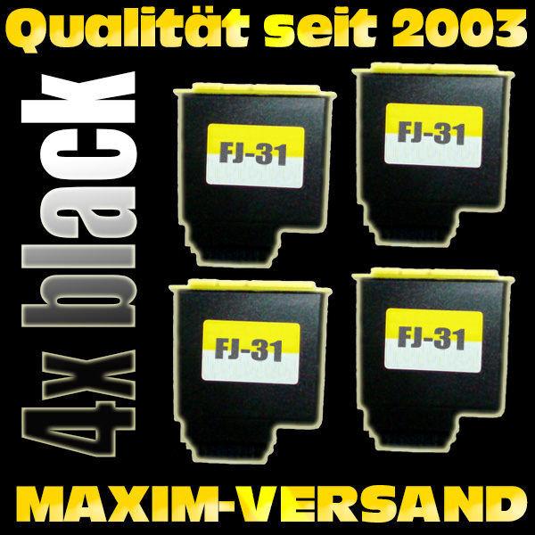 Olivetti FJ-31 schwarz / black- kompatibel x 4