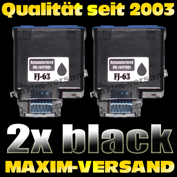 Olivetti FJ-63 schwarz / black - kompatibel x 2