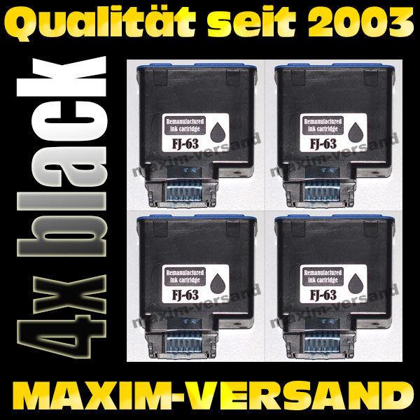 Olivetti FJ-63 schwarz / black - kompatibel x 4