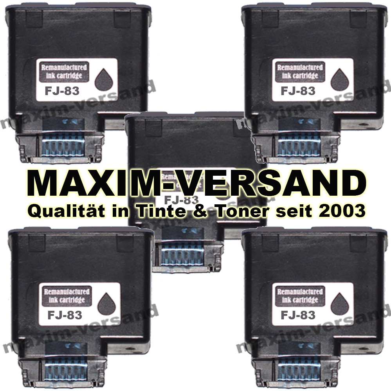 Olivetti FJ-83 schwarz / black - kompatibel x 5