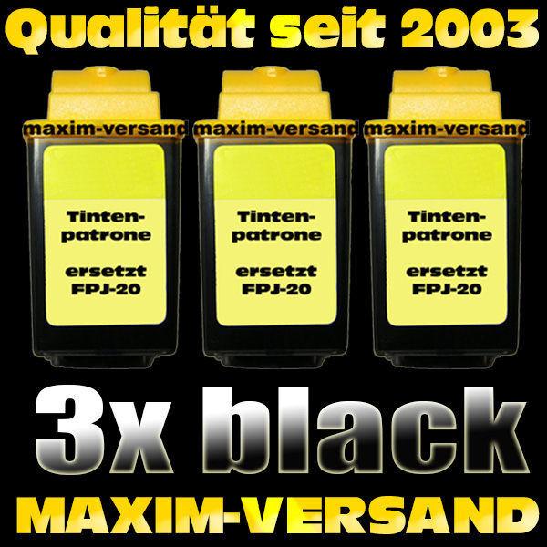 Olivetti FPJ-20 schwarz / black - kompatibel x 3