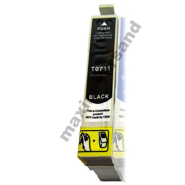 Reinigungspatrone für Epson T0711 - schwarz / black