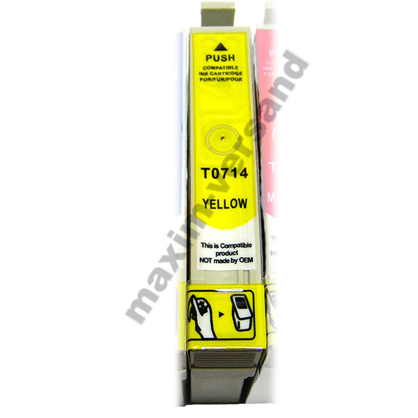 Reinigungspatrone für Epson T0714 - gelb / yellow