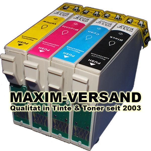 Reinigungspatronen für Epson T1631, T1632, T1633, T1634 BK+C+Y+M (4er Set)