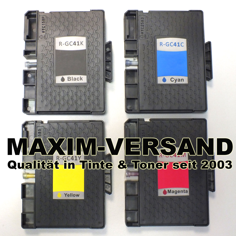 Ricoh GC-41 - kompatibel - Black Cyan Yellow Magenta - Gel-Patronen - (4er Set)