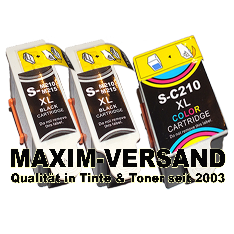 Multipack für Samsung INK-M210/215 x 2 + INK-C210- kompatibel (3er Set)