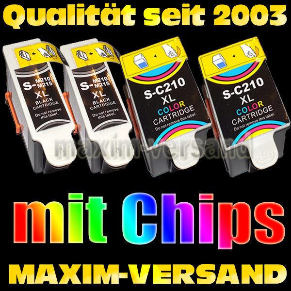 Samsung INK-M210 / M-215 Black x 2 + INK-C210 Color x 2 - kompatibel - (4er Set)