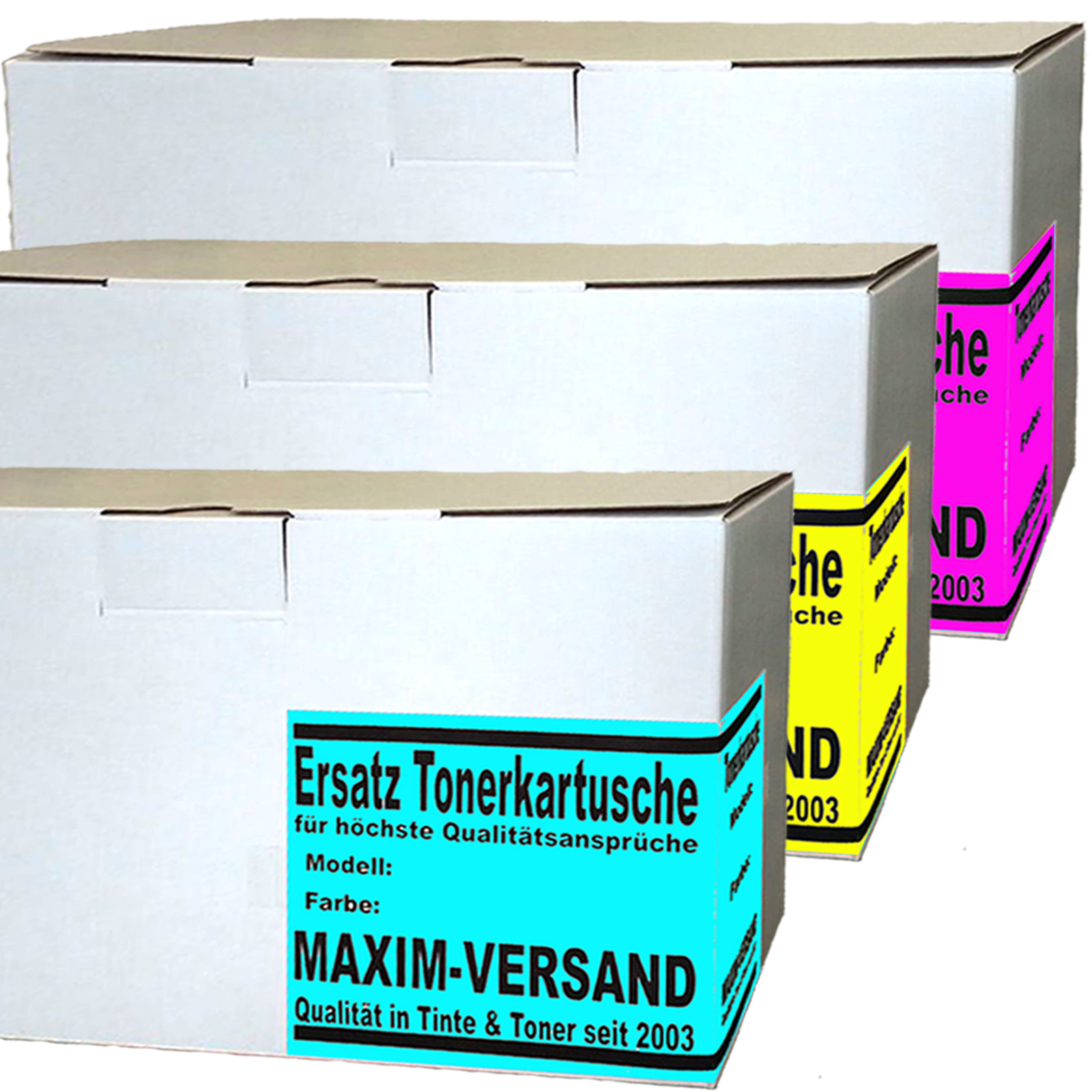 Brother TN-421 / TN-423 Cyan, Yellow, Magenta - Toner kompatibel (3er Farb-Set)
