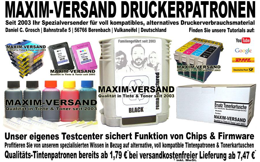 Firmenvorstellung MAXIM-VERSAND - Online-Shop für Druckerzubehör