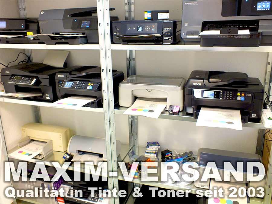 Druckertestcenter um Druckerpatronen auf Qualität zu testen