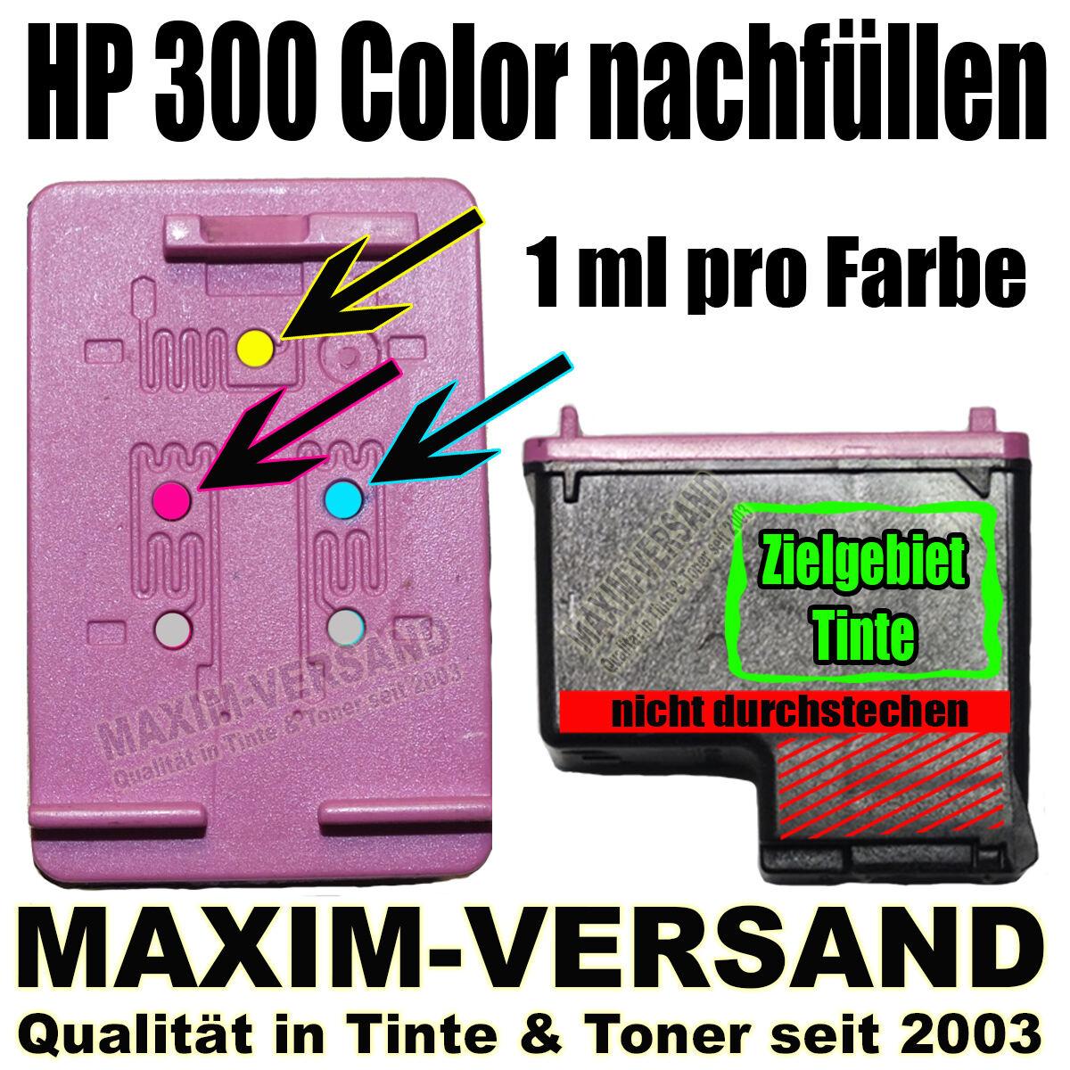 HP 300 Color nachfüllen