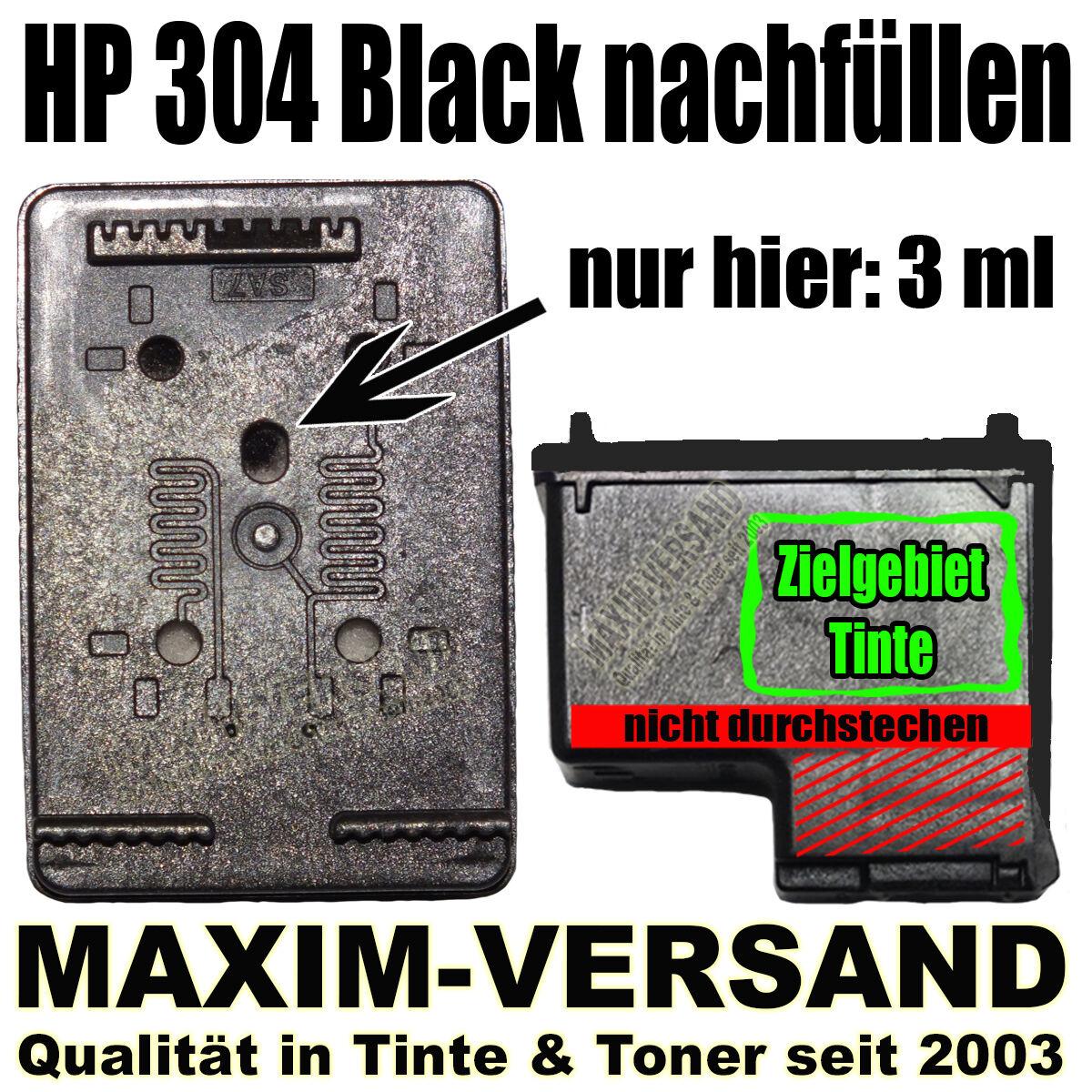 HP 304 Black nachfüllen