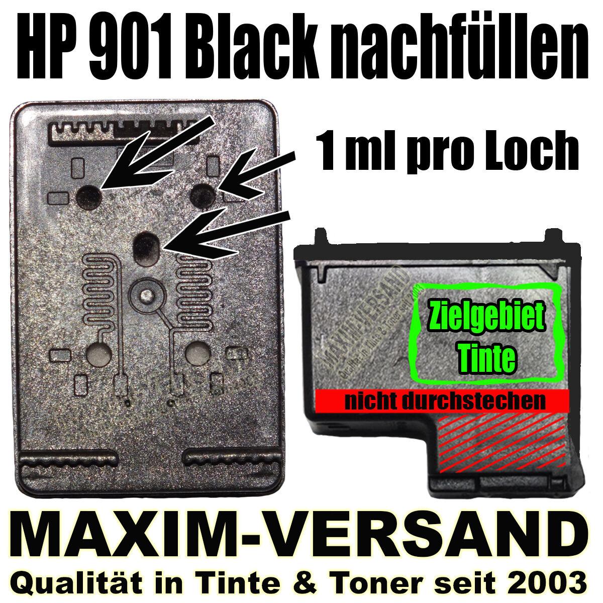 HP 901 Black nachfüllen