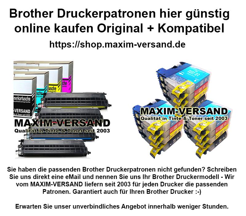 Brother Druckerpatronen günstig kaufen